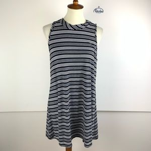 R2D Striped Sleeveless Above Knee Dress G3256